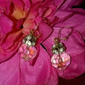 Jewelry - Vintage14k Rhinestone & Swarovski Crystal Earrings